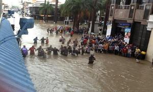 Flood in Mauritius